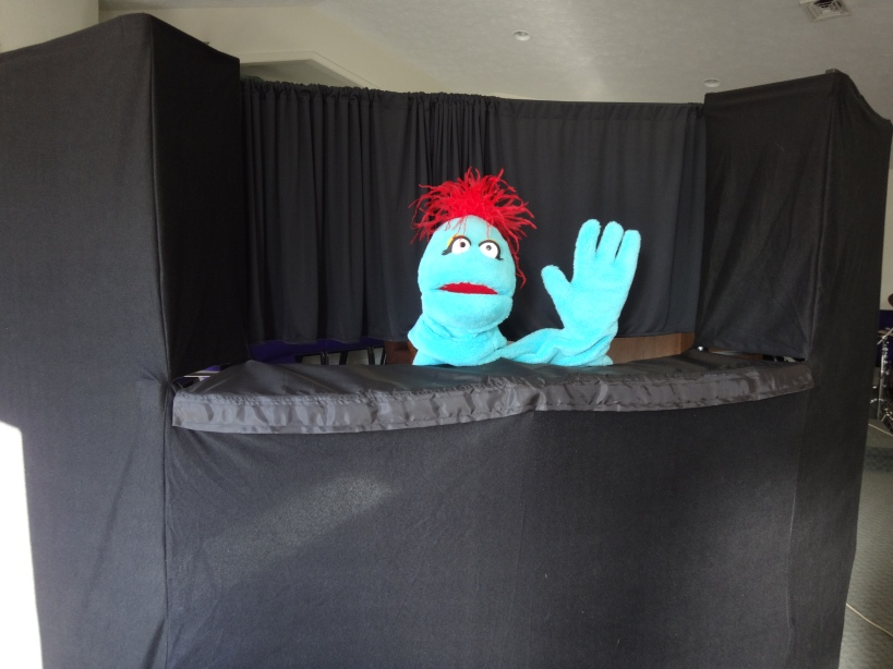 Rupert is our ambassador for the puppet ministry team.  Come visit and see our puppets EVERY Sunday!!
